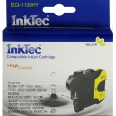 Картридж струйный InkTec для Brother BCI-1100HY, желтый